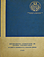 Cubierta para Departamento Coordinador de Centros Universitarios: un aporte al desarrollo de la educación superior