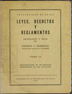 Cubierta para Leyes, decretos y reglamentos: Universidad de Chile
