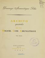 Cubierta para Archivo epistolar de don Miguel Luis Amunátegui Tomo II