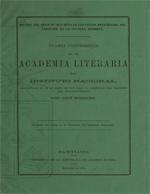 Cubierta para Cuarta Conferencia en la Academia Literaria del Instituto Nacional: hechos del siglo XV que señalan las causas principales del carácter de la cultura moderna
