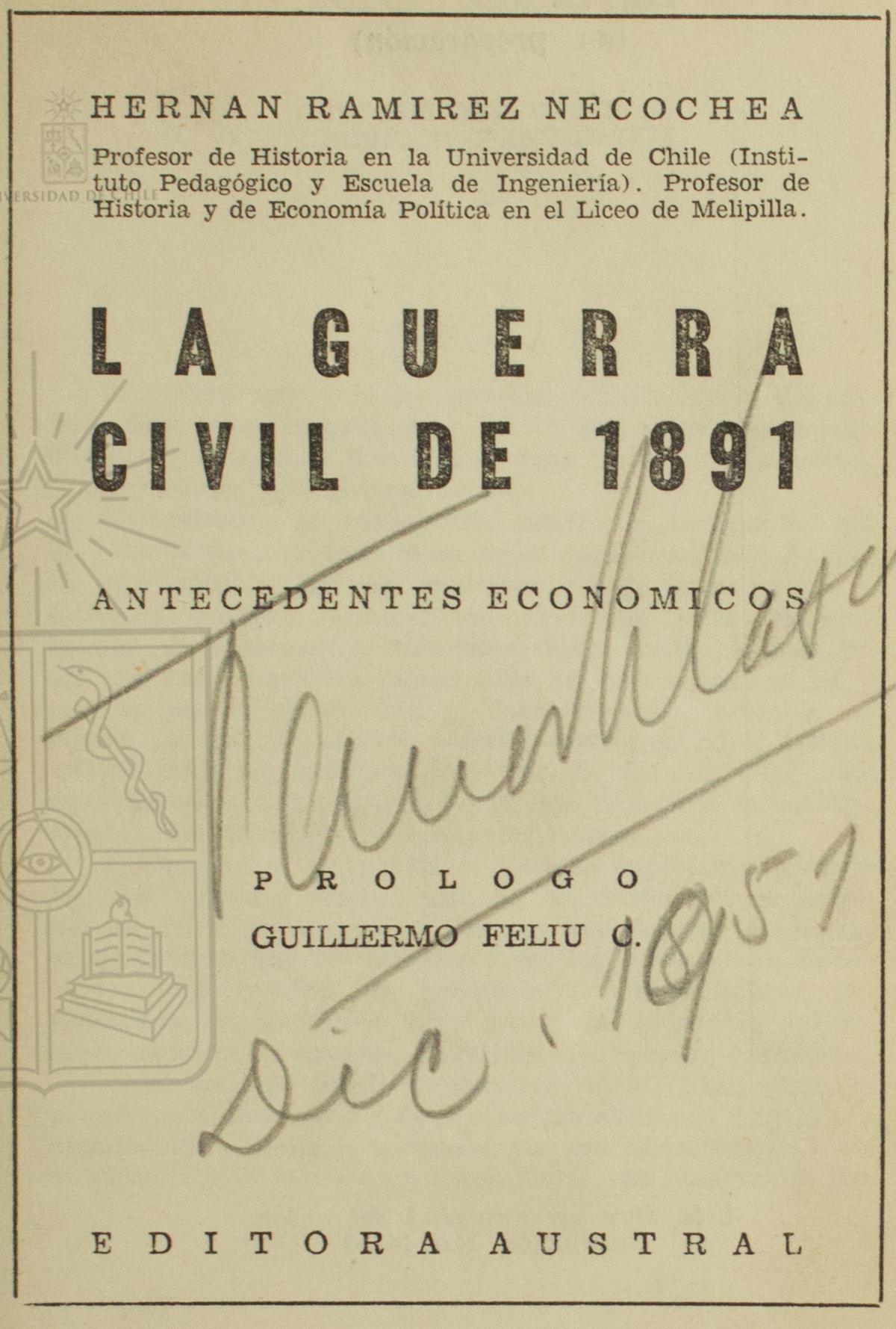 Cubierta para La guerra civil de 1891: antecedentes económicos