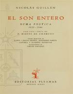 Cubierta para El son entero: suma poética 1929-1946 con una carta de D. Miguel de Unamuno