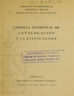 Cubierta para Cartilla elemental de catalogación y clasificación: el problema bibliotecario nacional