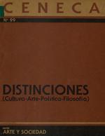 Cubierta para Distinciones: cultura-arte-política-filosofía