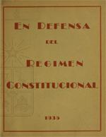 Cubierta para En defensa del regimen constitucional: 1935