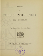 Cubierta para Notes on public instruction in Chile