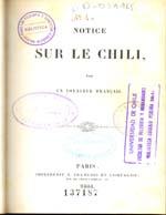 Cubierta para Notice sur le Chili