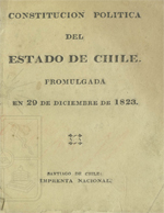 Cubierta para Constitución política del estado de Chile: promulgada en 29 de diciembre de 1823