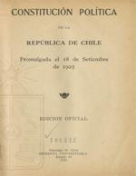 Cubierta para Constitución política de la República de Chile: promulgada el 18 de setiembre de 1925