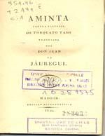 Cubierta para Aminta: fábula pastoril