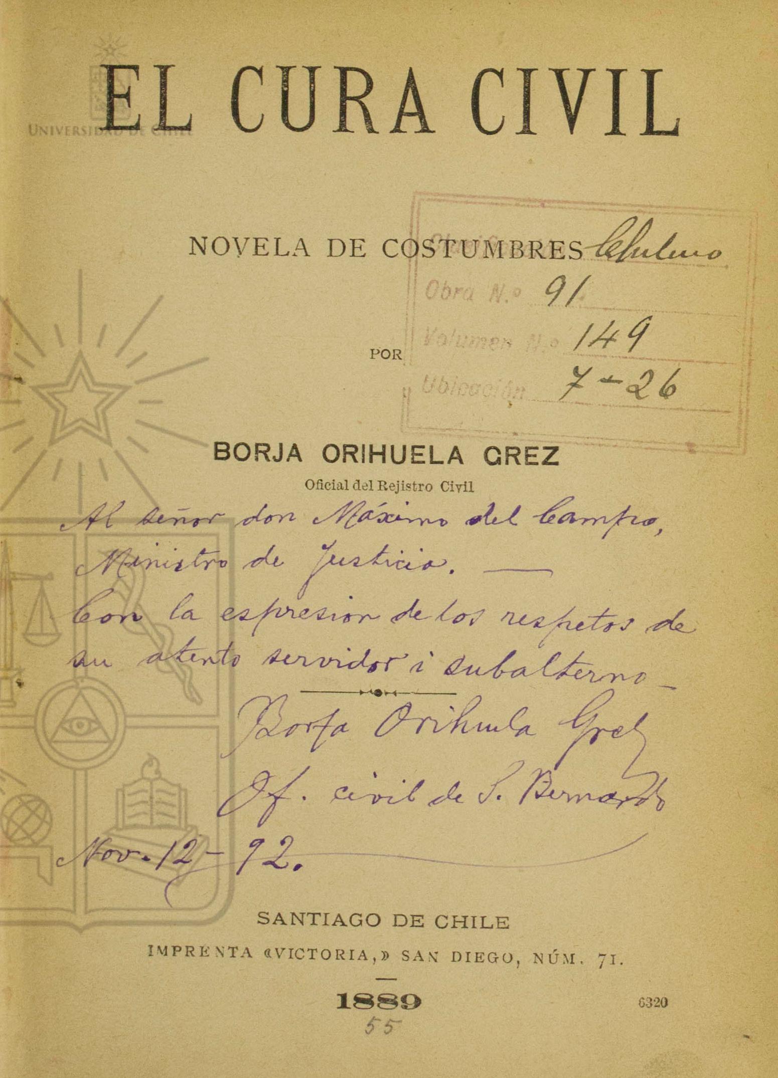 Cubierta para El cura civil: novela de costumbres
