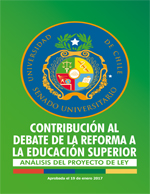 Cubierta para Contribución al debate de la reforma a la educación superior: análisis del proyecto de ley