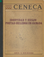 Cubierta para Identidad y exilio: poetas chilenos en Canadá
