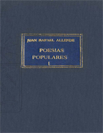 Cubierta para Poesías populares. tomo I