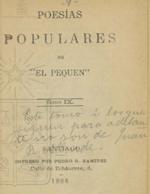 Cubierta para Poesias populares. Tomo IX