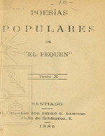Cubierta para Poesias populares. Tomo X