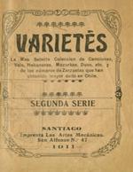 Cubierta para Varietés: la más selecta colección de canciones, vals, habaneras, mazurkas, duos, etc. y de los números de zarzuela que han obtenido mayor éxito en Chile : segunda serie