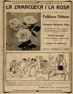Cubierta para La zamacueca i la rosa en el folklore chileno