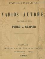 Cubierta para Poesías escojidas de varios autores