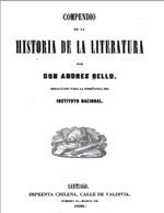 Cubierta para Compendio de la historia de la literatura