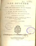 Cubierta para Los Oficios de Ciceron: con los dialogos de la Vejez, de la Amistad, las Paradoxas, y el Sueño de Escipion