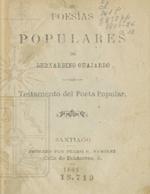 Cubierta para Poesías populares: Testamento del poeta popular : tomo X