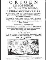 Cubierta para Origen de los indios de el Nuevo Mundo, e Indias Occidentales: tratense en este libro varias cosas, y puntos curiosos, tocantes a diversas ciencias, i facultades, con que se hace varia historia, de mucho gusto para el ingenio, i entendimiento de hombres agudos, i curiosos