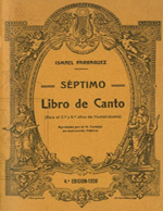 Cubierta para Séptimo libro de canto: (para el quinto y sexto años de humanidades)