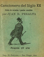 Cubierta para Cancionero del siglo XX: folletos de zarzuelas i poesias escojidas