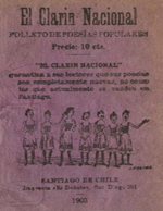 Cubierta para El clarín nacional: folleto de poesías populares