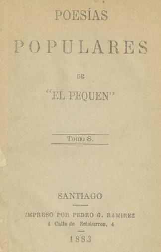 Cubierta para Poesias populares: Tomo VIII