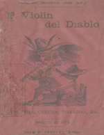 Cubierta para El violín del diablo: canciones, cuecas, tonadas, etc.