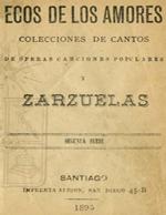 Cubierta para Ecos de los amores: colecciones de cantos de óperas, canciones populares y zarzuelas : segunda serie