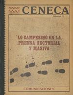 Cubierta para Lo campesino en la prensa sectorial y masiva: 1958-1983