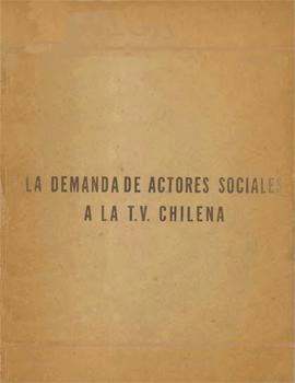 Cubierta para La demanda de actores sociales a la T.V. chilena